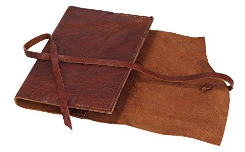 Greenburry Vintage Taschen-Organizer Notizbuch Ledereinband Leder--Tagebuch -100 % ECHT LEDER - DIN A6 - 17 x 12,5 x 2 cm