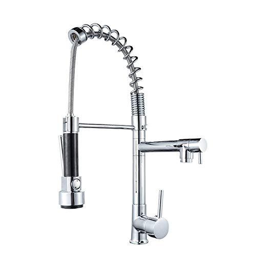 Wasserhahn - 360 ° Rotating Küche-Wannen-Hahn-heiße und kalte Misch Badezimmer-Hahn-Einhand-einzelner Loch-Hahn-Edelstahl-Wasserhahn