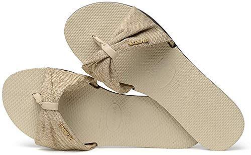 Havaianas You Saint Tropez Material Flip Flops Women Beige - 9/9.5 - Flip Flops Shoes