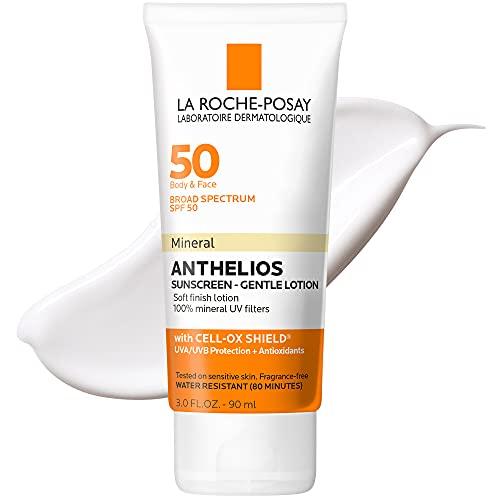 La Roche-Posay Anthelios Mineral Sunscreen Gentle Lotion, 3 Fl Oz