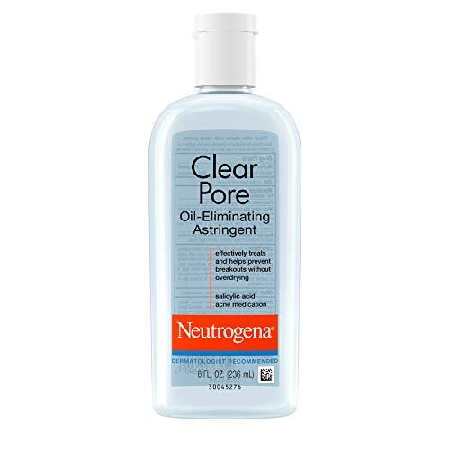 Neutrogena Clear Pore Oil-Eliminating Astringent with Salicylic Acid, Pore Clearing Treatment for Acne-Prone Skin, 8 fl. Oz (Pack of 6)