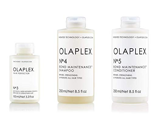 Olaplex Set - Olaplex Bond Maintenance Shampoo No 4 (250ml) + Olaplex Bond Maintenance Conditioner No 5 (250ml) + Olaplex Hair Perfector No 3 (100ml)