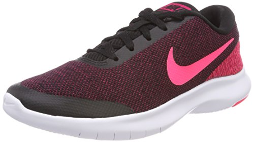Nike Women's Flex Experience Run 7 Shoe, Black/Racer Pink-Wild Cherry-White, 6.5 Regular US