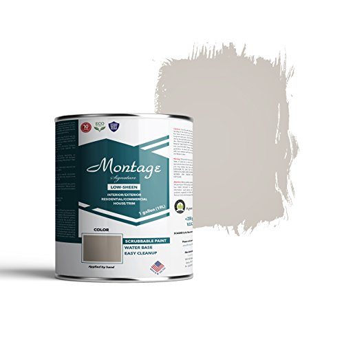 Montage Signature Interior/Exterior Eco-Friendly Paint, Slate Gray - Low Sheen, 1 Gallon