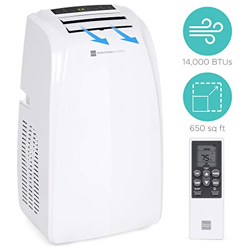 Best Choice Products 14,000 BTU Portable Air Conditioner Cooling Unit w/Remote Control, Window Kit, 650 SqFt Capacity