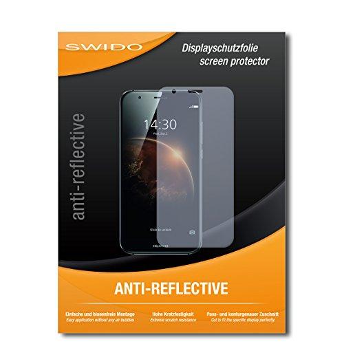 SWIDO Schutzfolie für Huawei GX8 Dual SIM [2 Stück] Anti-Reflex MATT Entspiegelnd, Hoher Festigkeitgrad, Schutz vor Kratzer/Bildschirmschutz, Bildschirmschutzfolie, Panzerglas-Folie