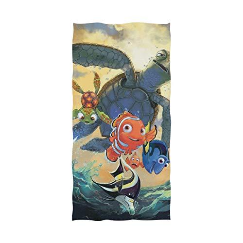 Emily-Shop Toalla de Playa Toalla de baño Cartoon Finding Nemo Toalla de Playa Toalla de baño Toalla de Playa Viaje Camping Yoga Gimnasio Toallas de Piscina 27.5 x 55 Pulgadas