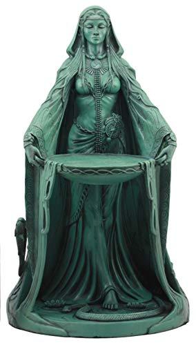 Ebros Celtic Triple Goddess Danu Statue 16' Tall Maxine Miller Statue Patroness Cycle of Life Death and Rebirth (Verdi Green)