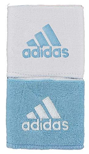 adidas Unisex Interval Reversible Wristband, Argentina Blue/White White/Argentina Blue, ONE SIZE
