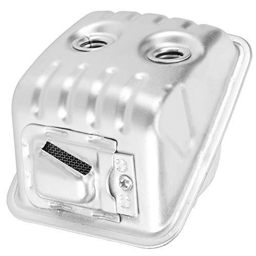 Silenciador de escape de hierro Conjunto de silenciador Buena durabilidad Práctico Motosierra Silenciador de escape Accesorios de repuesto Aptos para HUSQVARNA 445