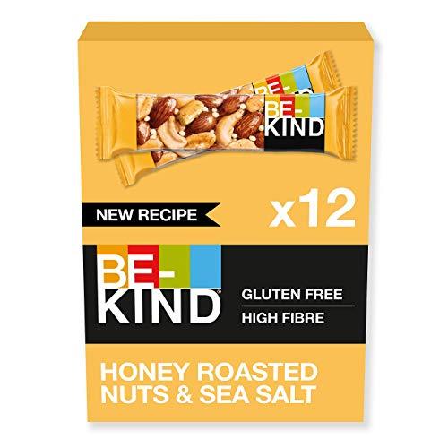 BE-KIND Barretta al Gusto di Mandorle Tostate, Miele e Sale Marino, Snack Senza Glutine, 1 Confezione x 12 Barrette da 40 g