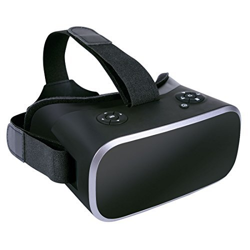 VR Headset,Kids VR 3D VR Glasses Virtual Reality Google Carboard with YouTube Games Android System 5.5 inch 1080P with 360 Degree Panorama Theater WiFi Bluetooth and TF Card