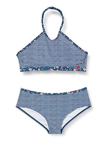 ESPRIT LONG BEACH YG       neckholder+hipster short Bikini-Set, Mädchen, Blau 140/146