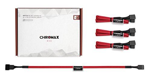 Noctua NA-SEC1 chromax.red, 3-Pin/4-Pin Verlängerungskabel (30cm, Rot)