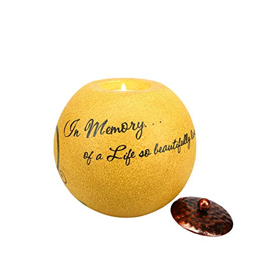 Pavilion Gift Company Comfort Candles 5-Inch Round Tea Light Holder, In Memory