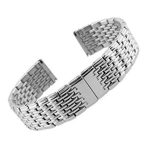 WNFYES Reloj del Metal Banda de 13 mm 18 mm 20 mm 22 mm 24 mm de Acero Inoxidable Reloj Pulsera Correa Mujeres de los Hombres de Plata de Oro Rosa Relojes Correas