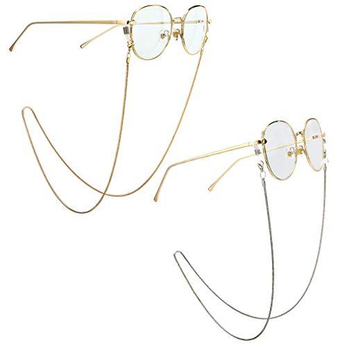 Fauhsto Fauhsto Brillenbänder & -ketten für Damen Glasses Chain Dekorative Gläserkette, Lesebrille Brillen Kette,Sonnenbrille Halter Gläser Cord Silikon Antirutsch Ringe