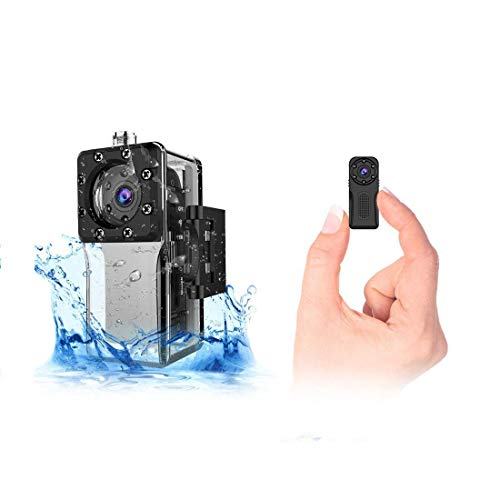 Waterproof Mini Spy Camera WiFi Hidden, ZZCP HD Portable Small Wireless Nanny Cam 1080P with Night Vision and Motion Detection, Perfect Indoor/Outdoor Tiny IP Security Camera for Android and iOS