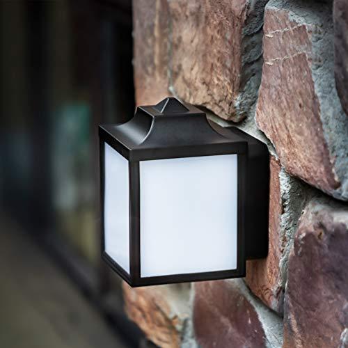 LUTEC Außen-Retro-Wandleuchte, LED-Wandleuchte, 3000K, 330LM, IP44, Netzbetriebene Leuchte für Plattform Deck, Terrasse, Balkon, Garten, Zaun, Garagenbeleuchtung