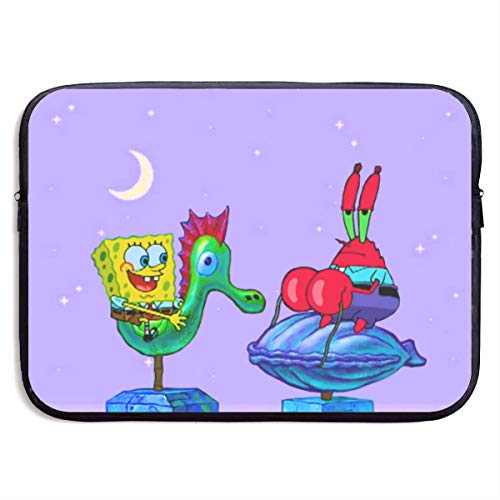 CHLING Funny Flying Spongebob Laptop Sleeve Bag Compatible 13-15 Inch MacBook Pro/MacBook Air/Surface Book/Surface Laptop