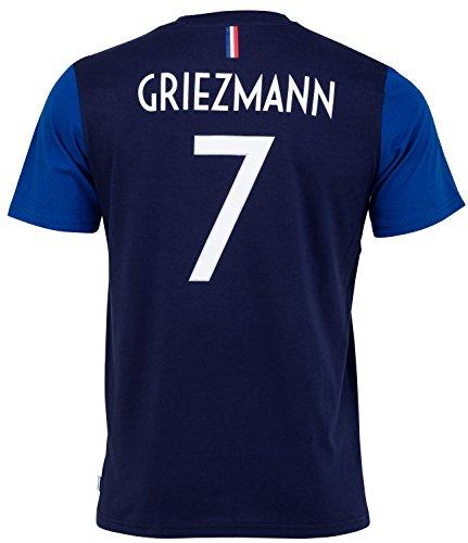 Equipe de FRANCE de football -Camiseta oficial de la selección de Francia de fútbolFFF- Antoine Griezmann -Talla infantil, Niños, azul, 14 años