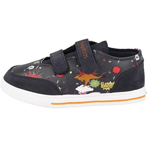 KangaROOS Unisex-Kinder Baby Flash V Sneaker, Blau (Navy/Comic), 25 EU