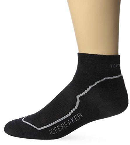 icebreaker Damen Hike+ Light Mini Socke, Jet Hthr/Snow/Black, S