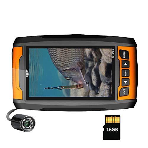 LUCKY Underwater Fishing Camera Tragbare hochauflösende Fischfinder-Kamera mit Infrarotlichtern Unterwasserkamera für das Eisfischen Hochseefischen
