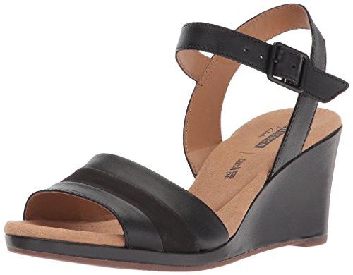 Clarks Women's Lafley Aletha Platform, Black Leather, 11 Medium US
