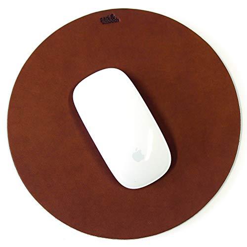 Pack & Smooch Leder Mousepad Mit Naturkautschuk Anti-Rutschbeschichtung Aus Pflanzlich Gegerbtem Leder - Hell Braun
