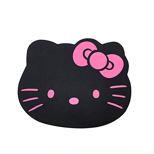 DINNER SWEAR Fashion Cartoon Hello Kitty Optical Mouse pad Personalized Computer Decoration Mouse Pad Mat Non-toxic Tasteless Mice Mat Mousepad (Black)