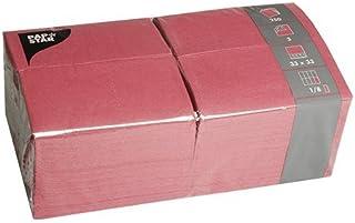 Papstar Servietten / Tissueservietten bordeaux (250 Stück), 33 x 33 cm, 3 lagig, 1/8 Falz, in der 250er Gastronomie Packung, ideal für den Gastrobereich und große Feste, #84577