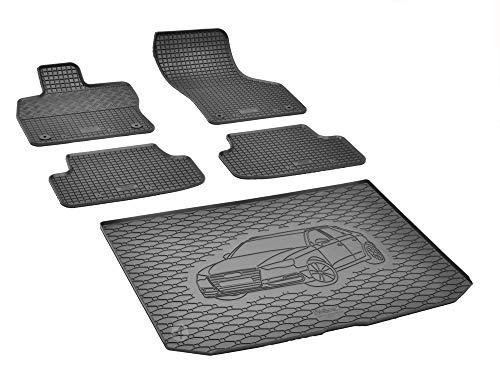Passende Gummimatten und Kofferraumwanne Set geeignet für Audi A3 Sportback ab 2013