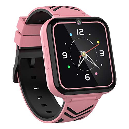 """Teléfono Smart Watch para niños,con Games SOS Call,Linterna 1.57""""Pantalla táctil,Cámara Frontal,Reproductor de música,para niños niñas Estudiantes cumpleaños 3-12y"""
