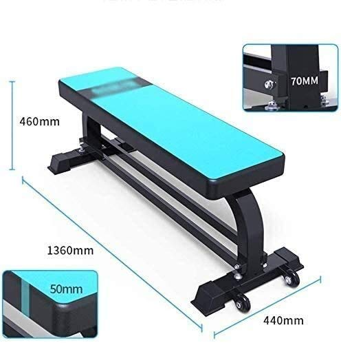 CUUYQ Weight Bench, Workout Benches Multi Purpose Exercise Utility Bench/Fitness Benches for Strength Training Core Workout Training,Blue