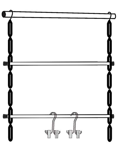 Deluxe 12-Pair Hanging Boot Storage - Double Decker Boot Caddy Hangs up to 18 Pairs (Boot Organizer, Boot Hanger, Boot Storage System) (Silver Rack System with 12 Boot Hangers)