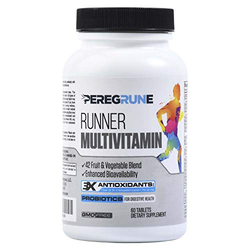 Runner Vitamin: Vegan | Engineered Multivitamin for Runners | Antioxidants for Health & Recovery | Vitamin B Complex for Running Endurance, Energy, VO2 Max, | Probiotics & Whole Foods