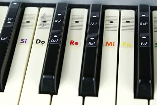 Piano teclado música Nota color pegatinas Do-Re-Mi-Fa-Sol-La-Si