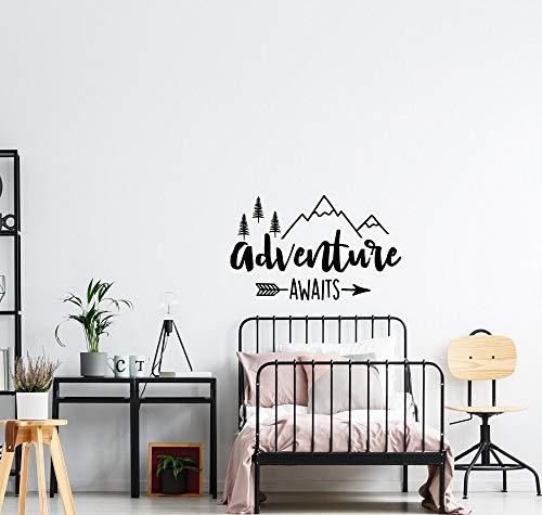 Yaonuli avontuur wachttijd wanddecoratie wandsticker slaapkamer kinderen citaten van inspiratie ontdekken aftrekplaatjes huisdecoratie