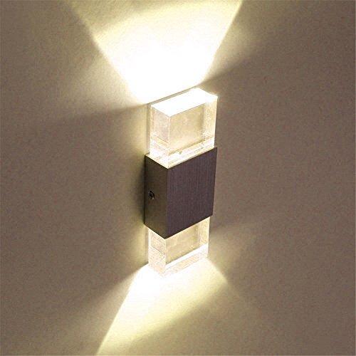 Unimall 6W LED Wandleuchte Innen Wandlampe modern Design hell Effekt ideal für Schlafzimmer Treppe Flur Warmweiß