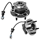 Rear Wheel Hub and Bearing Assembly Compatible With 2005-2006 Chevrolet Equinox 06 Pontiac Torrent 02-07 Saturn Vue (4-Wheel ABS Models Only) AUQDD 512229 x2 (Pair)[5 Lug Hub W/ABS]