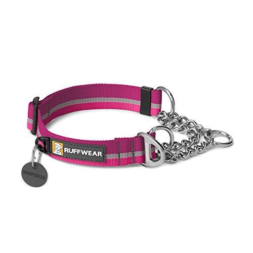 Ruffwear Zughalsband für Hunde, Kleine bis sehr kleine Hunderassen Größenverstellbar, Reflektorstreifen, , Größe: S (28-36 cm), Violett (Purple Dusk), Chain Reaction Collar, 25701-560S