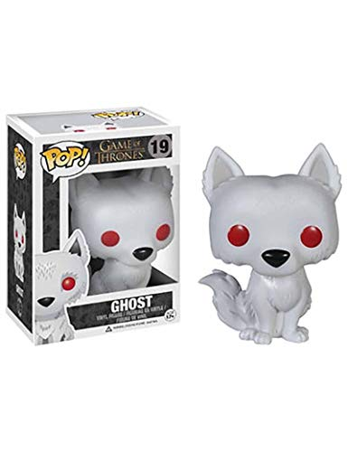 ZCBHSD Funko Ghost Game of Thrones Direwolf Bobble Head - Figura de coleccionistas de Vinilo Dire Wolf Figura, Multicolor