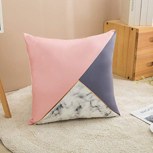 PPMP Funda de Almohada nórdica, Funda de cojín geométrica Rosa Azul, Utilizada para la decoración de la Silla del sofá del hogar, Funda de Almohada, Funda de cojín A8 45x45cm 2pcs
