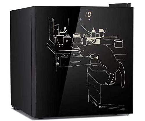 Small Upright Freezer 1.1 Cubic Feet Black, Garage Mini Freezers with Dry Erase Door, from 7 ℉ to -11℉/ LCD Display Screen