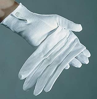 PARTY DISCOUNT ® Handschuhe Damen, weiß mit Biesen, Baumwolle