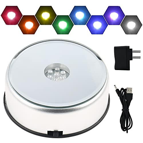 WingFly Base de luz LED para Cristal de Cristal,...