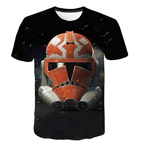 Fashion Yoda Cool Dj Hip Hop Star Wars Darth Vader T-Shirt Men's 3D Short Sleeve T-Shirt Funny Print Tees Tops Tshirt Summer
