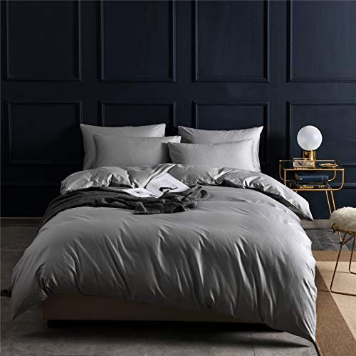 4-Piece Set Of Solid Color 60S Long-Staple Cotton Bed Sheet, Double-Sided Large Super Soft And Comfortable Flat Sheet, Machine Washable, Wrinkle-Free, Breathable Home Textile