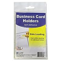 c-lineビジネスカードホルダー–ビニール–10/パック–クリア